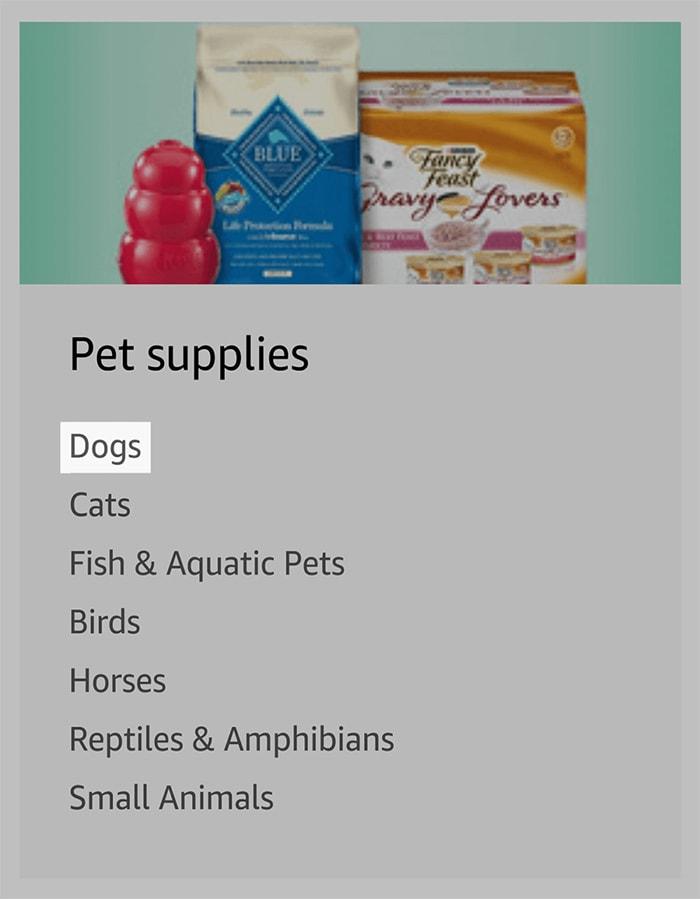 Köpekler seçeneği