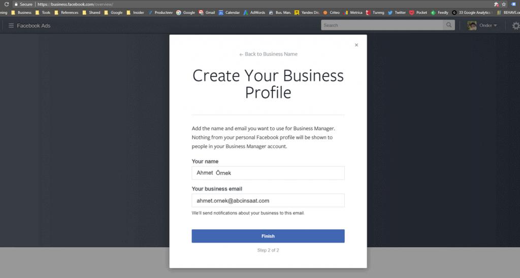 şirket emailinizi girin