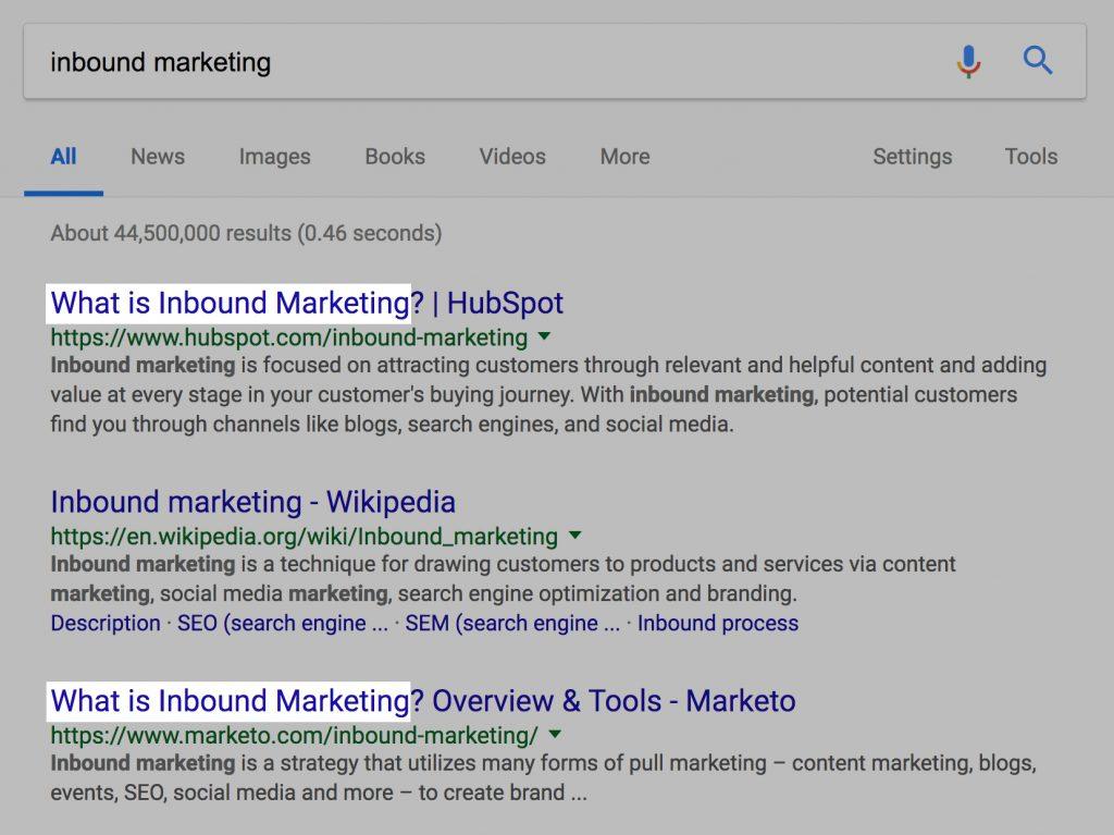 inbound marketing aramaları