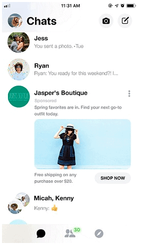 messenger reklamı