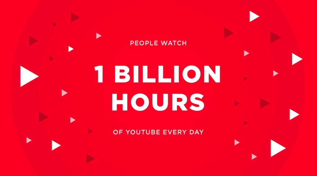 insanlar her gün 1 milyar saat boyunca Youtube videosu izliyor