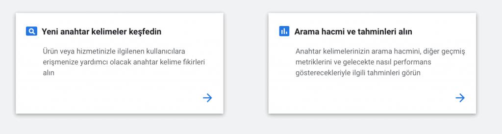 Google Kelime Planlayıcısına Giriş Yapın