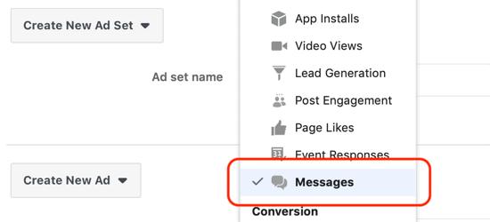 Facebook Messenger Reklam Seti Ayrıntılarını Doldurun