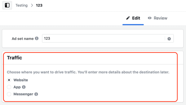 Facebook Messenger Kampanya Hedefinizi Seçin